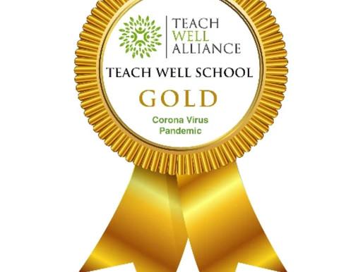 Gold Award: Gretton School receives 'Teach Well' Gold Award during the Corona Virus Pandemic