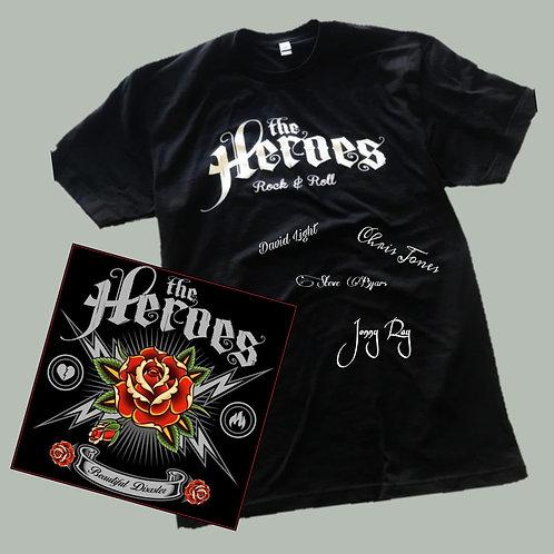 Autographed Heroes Logo Tee + CD