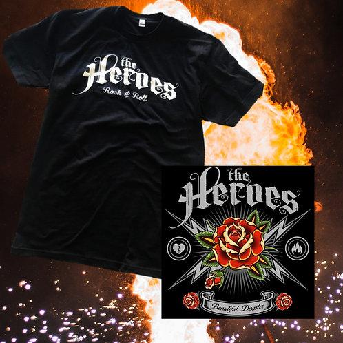 The Heroes Logo Tee + CD