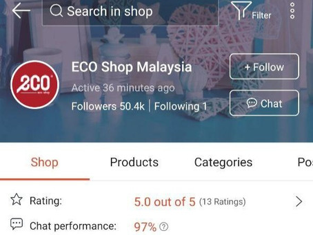 Eco Shop kini boleh didapati di Shopee