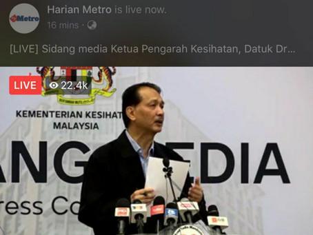 Netizen ucap selamat hari lahir di siaran media Dr Noor Hisham