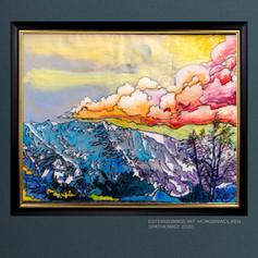 Estergebirge mit Morgenwolken