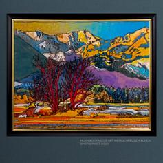 Murnauer Moos mit Blick auf Werdenfelser Alpen