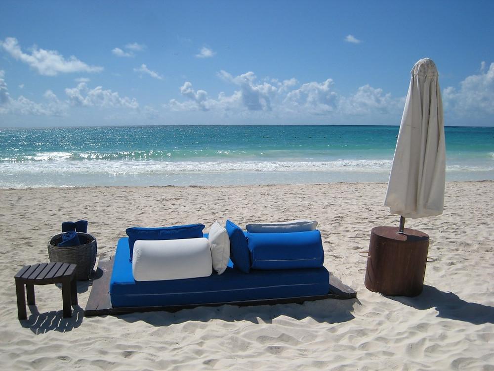 Beach bed at Maroma