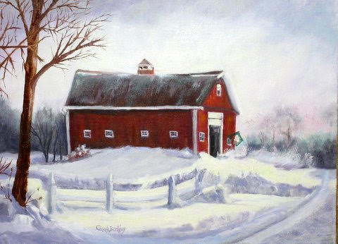 N. B. Red Barn in Winter