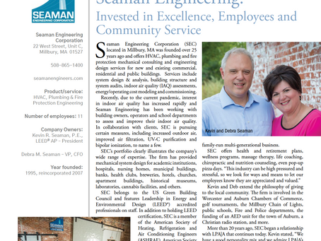 Seaman Engineering:Invested in Excellence, Employees and Community Service