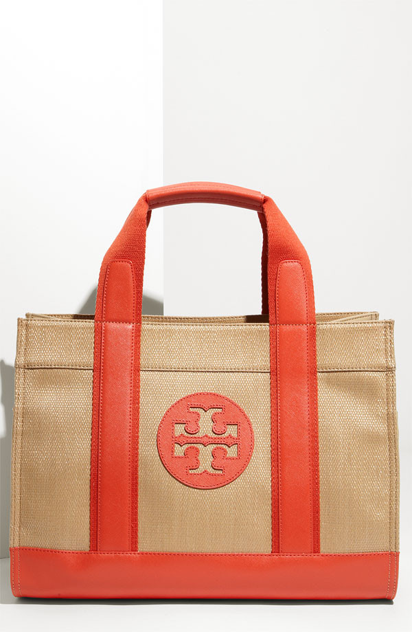 Tory Burch 'Tory' Synthetic Straw Tote