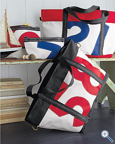 Recycled-Sailcloth Weekend Luggage