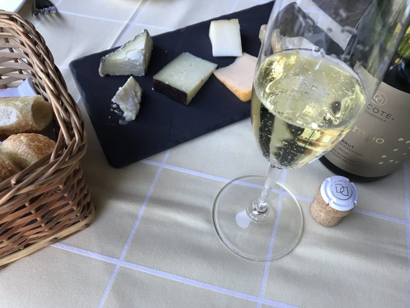 Sparkling Wine and Cheese