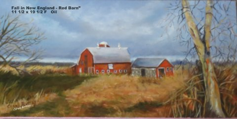 Fall in New England Red Barn