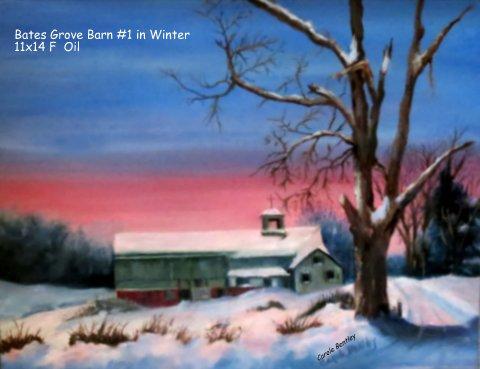 Bates Grove Barn #1 in Winter