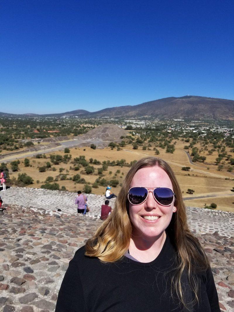 Erin at Teotihuacan
