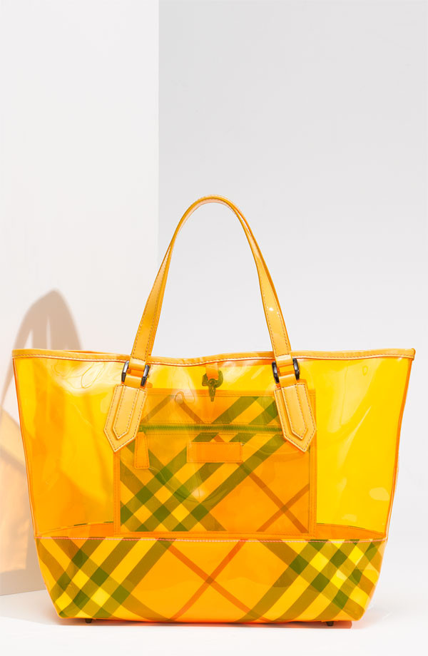 Burberry Transprent Tote in Yellow