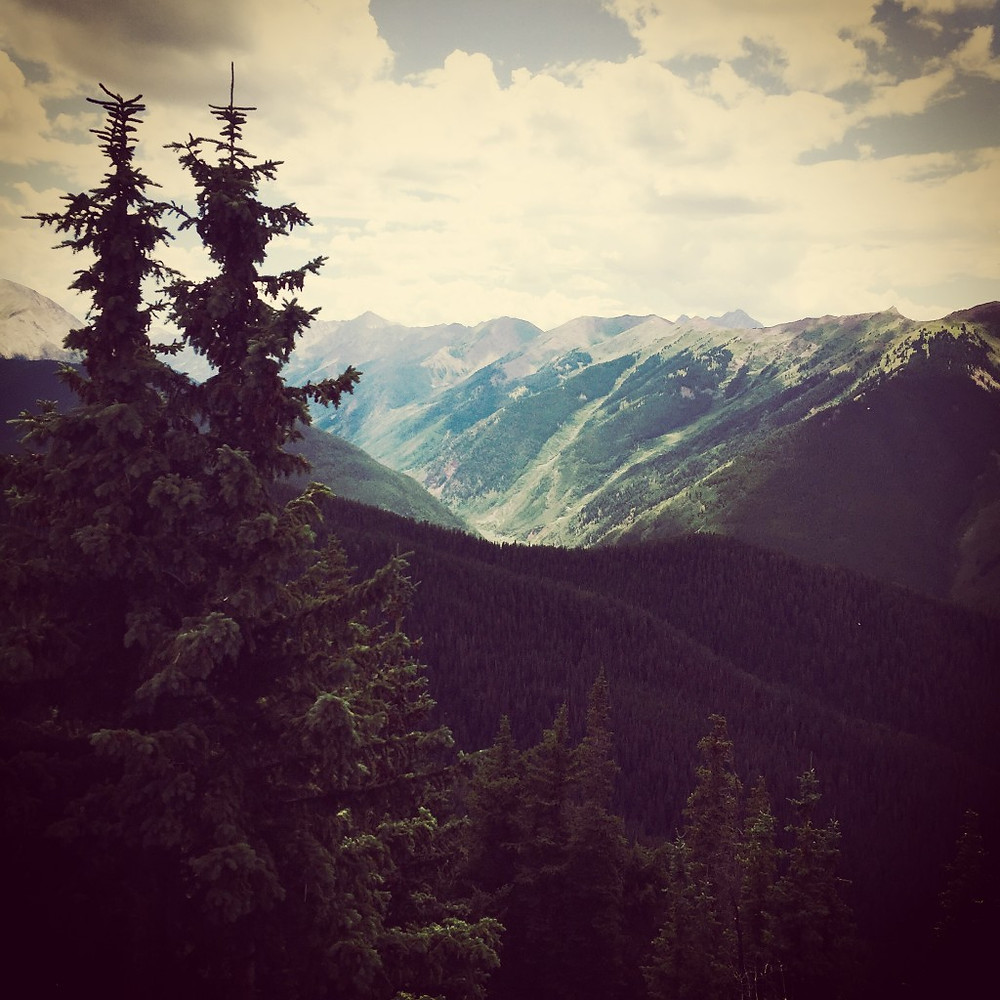 View from the top of Aspen Mountain