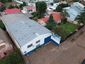 Vista aérea do pavilhão