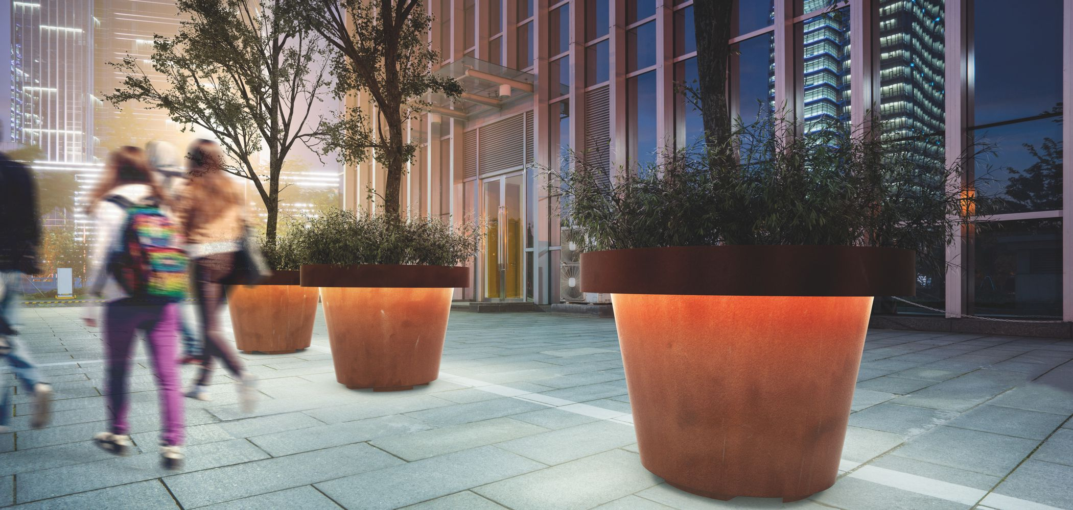 id created/metalco size planter