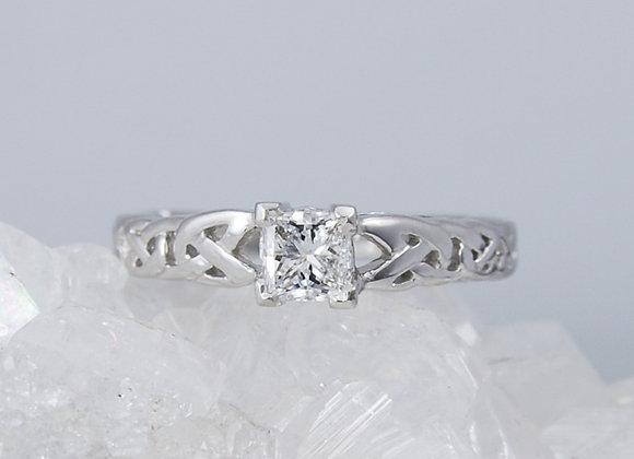 Celtic-Knot Diamond Ring