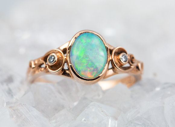 Rose Gold and Opal