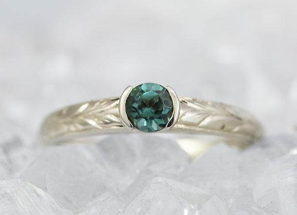 Engraved Tourmaline Ring