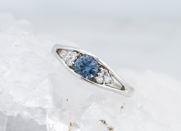 Dawn Ring with Sapphire and Diamonds