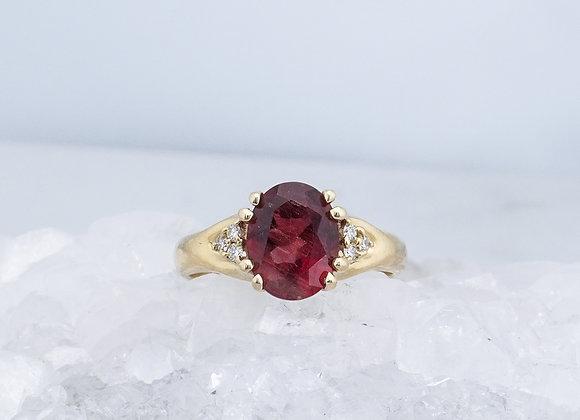 Schiller Sunstone with Diamond Ring
