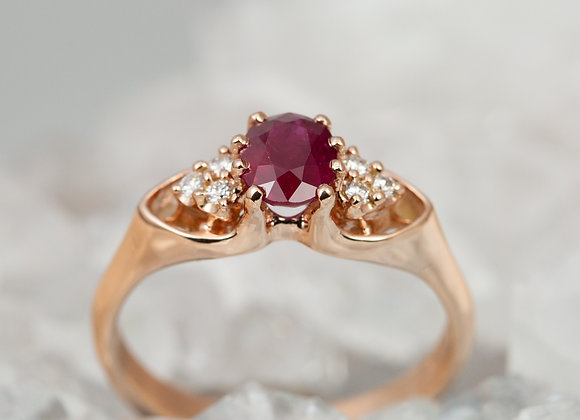 Ruby and Rose Gold