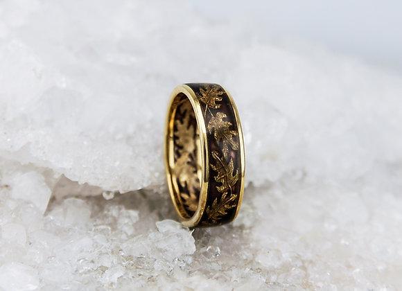 Oak Leaf Enamel Ring