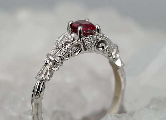 Spinel and Antique Scroll