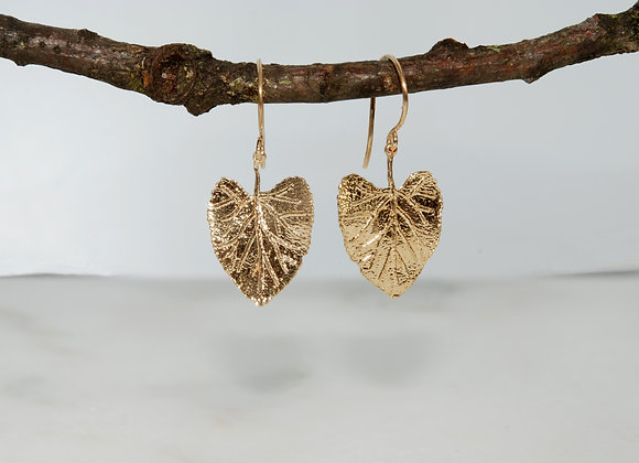 Hollyhock Leaf Dangle Earrings