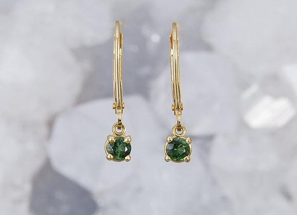 Green Sapphire Dangles