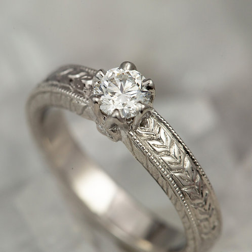 Rolled Leaf Ring