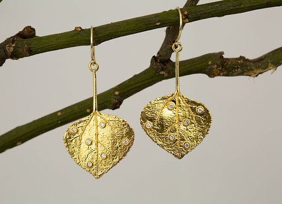 Aspen Leaf Earrings