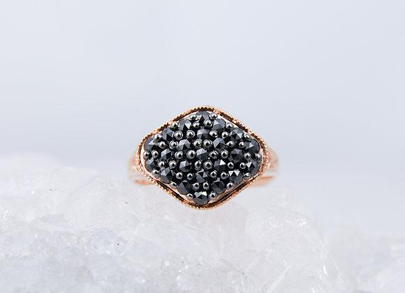 Black Diamond Pavé Ring