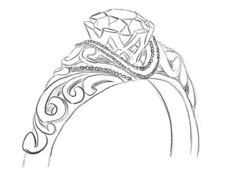 hand drawing of ring design