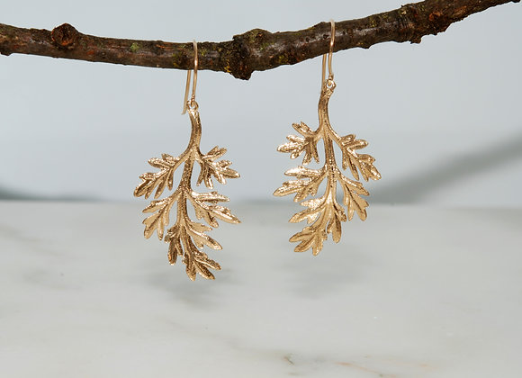 Dusty Miller Dangle Earrings
