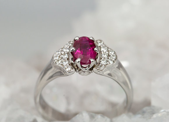 Ruby with Diamond Crown