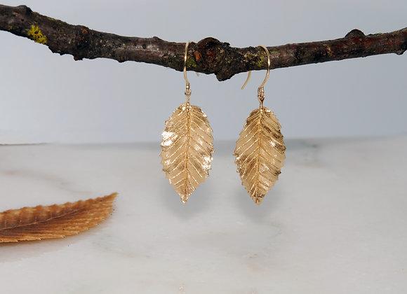 Alder Leaf Dangle Earrings