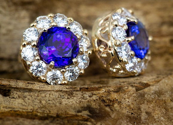 Tanzanite and Diamond