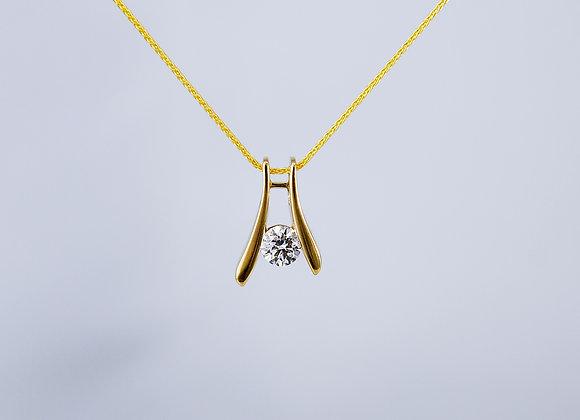 Modern Diamond Solitaire Pendant