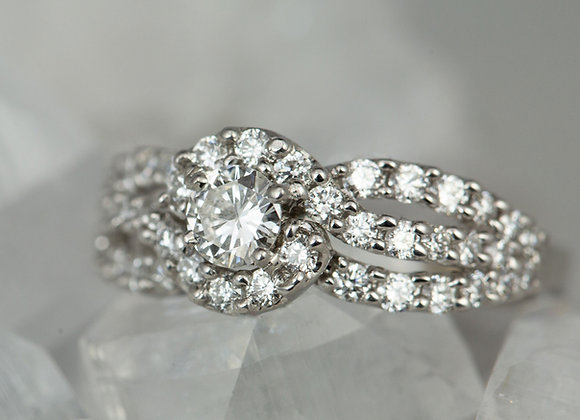 Twisted Halo Ring