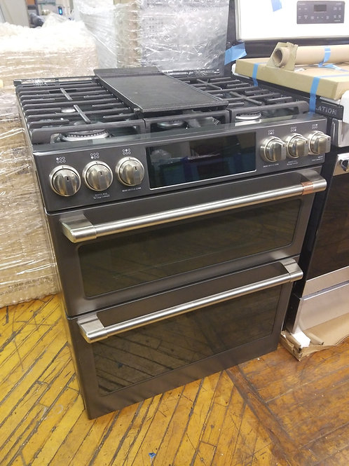 Cafe 6-Burner 4.3-cu ft / 2.4-cu ft Self-cleaning and Double Oven True Convectio