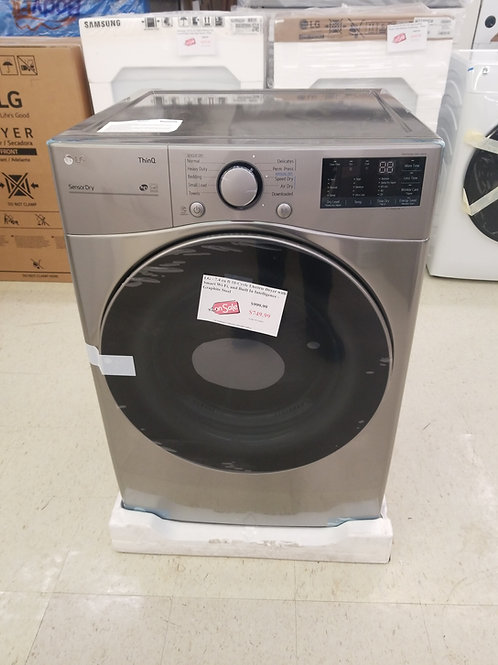 LG - 7.4 cu ft 10-Cycle Electric Dryer with Smart Wi-Fi, and Built In Intelligen