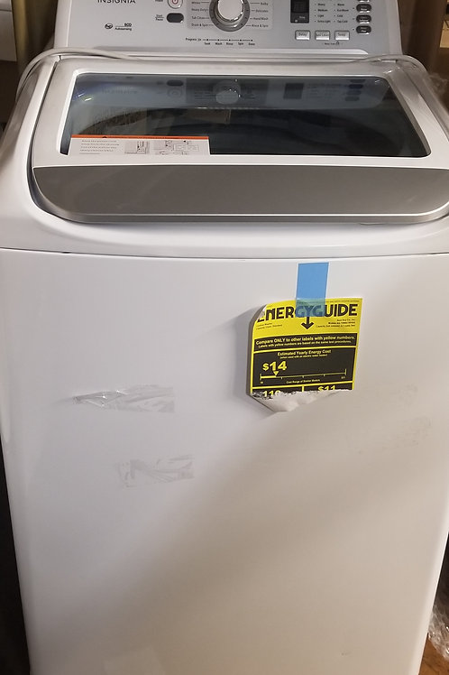 Insignia™ - 4.1 Cu. Ft. 11-Cycle High-Efficiency Top-Loading Washer - White