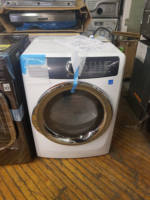 Electrolux 8.0-cu ft Reversible side swing Stackable Electric Dryer with Steam