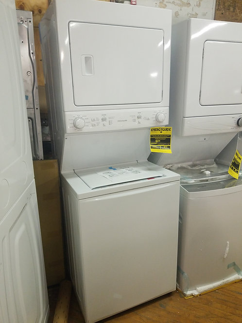 Frigidaire Stacked Laundry Center with 3.9-cu ft Washer and 5.5-cu ft Drye