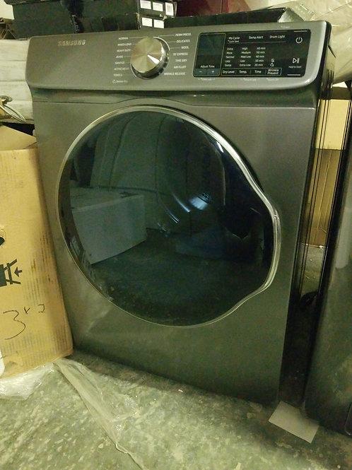 Samsung 4-cu ft Stackable Electric Dryer (Inox Grey)