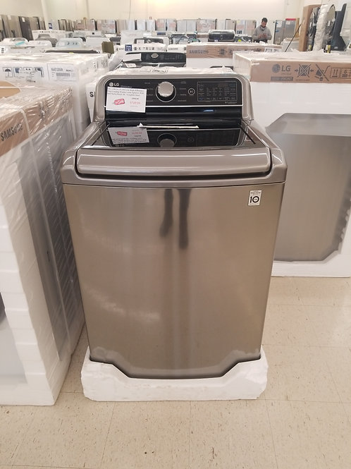 LG - 4.8 Cu. Ft. 8-Cycle High-Efficiency Top-Loading Washer with Agitator, Wifi