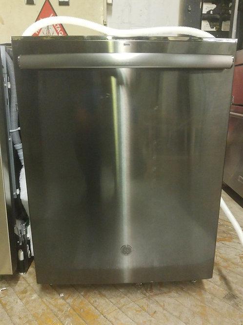 "GE - 24"" Built-In Dishwasher - Black stainless steel"