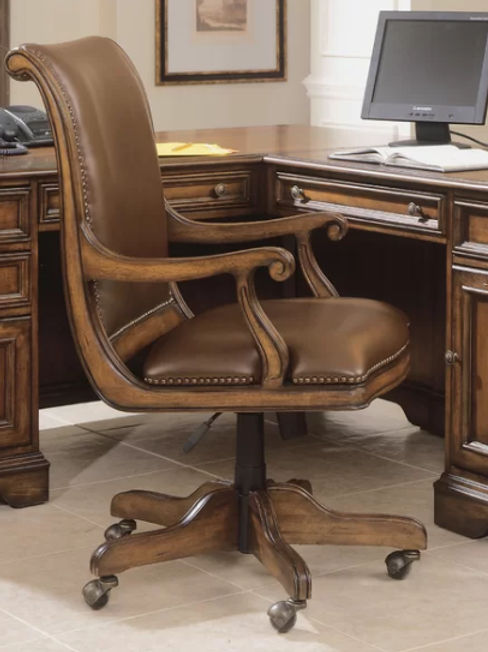 Brookhaven Genuine Leather Bankers Chair