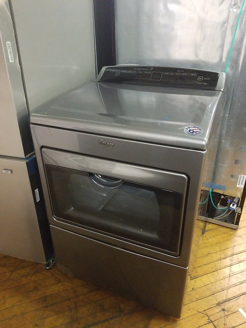 Whirlpool - 7.4 Cu. Ft. 26-Cycle Electric Dryer - Chrome Shadow